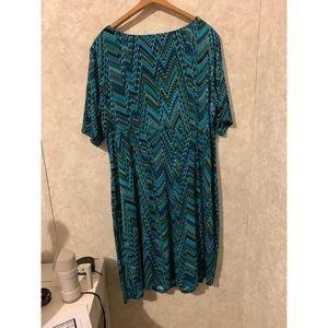 Dressbarn multicolored dress size 22